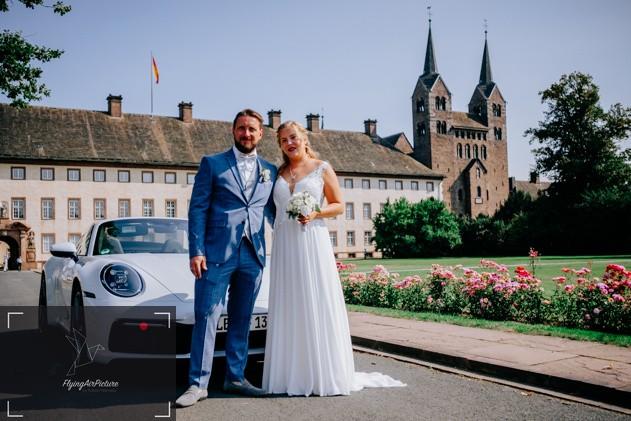 Weltkulturerbe Corvey - Hochzeitsauto